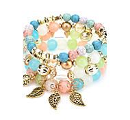 cheap -New Bohemia Colorful Natural Stone Bracelet Beads Chakra Onyx Chakra Charm Bracelet For Women Men Pulseira Mujer Accessorie