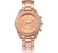 cheap -Men's Women's Quartz Wrist Watch Chinese Hot Sale Alloy Band Charm Luxury Casual Simulated Diamond Watch Dress Watch Elegant Fashion