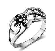 Недорогие -Жен. Кольцо на кончик пальца Мода Стерлинговое серебро Цветы Бижутерия фестиваль