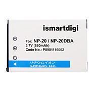 ismartdigi cnp20 3.7v 680mah аккумулятор для камеры casio np-20 ex-z60 z65 z70 z75 s770 m1 m2 s1