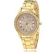 Men's Women's Fashion Watch Wrist watch Simulated Diamond Watch Chinese Quartz Imitation Diamond Alloy Band Charm Casual Elegant Silver