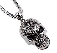 preiswerte -Herrn Lang Anhängerketten / Ketten - Totenkopf Hip-Hop Silber Modische Halsketten 1 Für Weihnachten, Bar