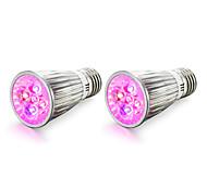 cheap -2PCS 4W 450-550 lm E14 E27 LED Grow Lights 5 leds High Power LED Red Blue AC85-265 AC 85-265V