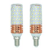Недорогие -BRELONG® 2pcs 16W 1300lm E14 LED лампы типа Корн T 84 Светодиодные бусины SMD 2835 Тёплый белый Белый Двойной цвет источника света