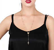 Women's Pendant Necklaces Chain Necklaces Cross Alloy Sexy Cross Jewelry For Daily Street