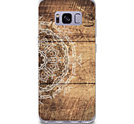 cheap -Case For Samsung Galaxy Pattern Back Cover Wood Grain Mandala Soft TPU for S8 Plus S8 S7 edge S7 S6 edge plus S6 edge S6 S6 Active S5