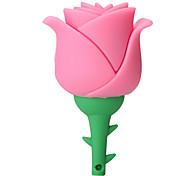 silicone creativo de alta velocidade rosa flor 16gb usb 2.0 flash drive u disco disco de memória