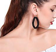 cheap -Women's Drop Earrings Front Back Earrings Rhinestone Sexy Elegant Rhinestone Oval Jewelry For Party Daily
