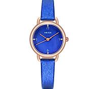 KEZZI Women's Fashion Watch Wrist watch Casual Watch Quartz PU Band Luxury Cool Casual Black White Blue Pink