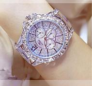 Mujer Reloj de Moda Reloj creativo único Reloj de Cristal Pavé Japonés Cuarzo Acero Inoxidable Banda Plata Dorado Oro Rosa