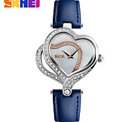 cheap -SKMEI Women's Dress Watch Fashion Watch Quartz Water Resistant / Water Proof Leather Band Charm Luxury Cool Casual Black White Blue Red