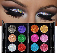 cheap -1pc 6 Colors Eyeshadow Palette Shimmer Eyeshadow palette Powder Cosmetic Makeup for Eye Makeup 2 Stysles for Selection