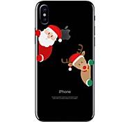 Hülle Für iPhone X iPhone 8 Transparent Muster Rückseitenabdeckung Cartoon Design Weihnachten Weich TPU für iPhone X iPhone 8 Plus iPhone