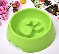 cheap -L Cat Dog Bowls & Water Bottles Pet Bowls & Feeding Durable Brown Green Blue Pink