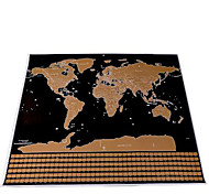 cheap -Scratch Map Scratch Off Map of the World for Travelers Toys Square Maps Kids Adults' 1 Pieces