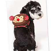 Dog Harness Portable Cartoon Fabric Coffee