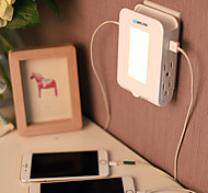 Brelong 2usb 4us chargeur prise allume-cigare induction chargeur 2.1a (dc5v) 110-140 v chaud blanc nous