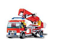 Недорогие -Конструкторы Пожарная машина Игрушки Транспорт Мальчики 244 Куски