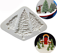 Silicone Christmas Tree Cake Fondant Mold Chocolate Cookies Mould Baking Decorating Tools