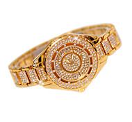 Жен. Модные часы Часы со стразами Кварцевый Нержавеющая сталь Группа На каждый день Серебристый металл Золотистый Розовое золото