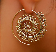 cheap -Women's Stud Earrings / Hoop Earrings - Personalized / Statement Gold / Silver Round Earrings For Stage / Club