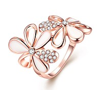 cheap -Women's Knuckle Ring Nail Finger Rings Band Rings Cubic Zirconia AAA Cubic Zirconia Fashion Personalized Zircon Cubic Zirconia Rose Gold