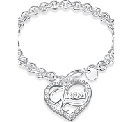 Women's Bracelet Basic Fashion Copper Silver Plated Heart Jewelry For Daily Casual Stage Office & Career Street