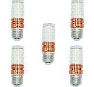 Недорогие -BRELONG® 5 шт. 12W 1000lm E27 LED лампы типа Корн T 60 Светодиодные бусины SMD 2835 Тёплый белый Белый Двойной цвет источника света