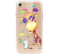 abordables -Funda Para Apple iPhone X iPhone 8 iPhone 8 Plus Ultrafina Transparente Diseños Funda Trasera Caricatura Animal Suave TPU para iPhone X