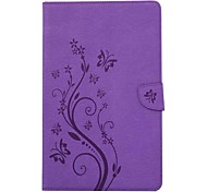 cheap -Case For Samsung Galaxy Full Body Cases Tablet Cases Butterfly Flower Hard PU Leather for Tab A 7.0 (2016)