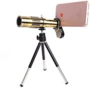 Orsda® 20X Ultra Beast Magnifier Zoom Manual Focus Telephoto Telescope Phone Camera Lens Kit with High-end Tripod for iPhone xiaomi (Bronze)