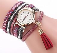 Women's Fashion Watch Bracelet Watch Simulated Diamond Watch Chinese Quartz Imitation Diamond PU Band Charm Casual Elegant Black White