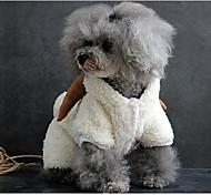 Cane Costumi Abbigliamento per cani Casual Tinta unita Bianco Grigio Marrone