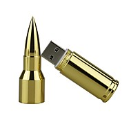 16gb metal bullet usb 2.0 usb flash drive pen drive memoria stick pendrive u disco flash drive silver / gold