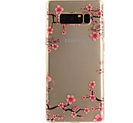 Case For Samsung Galaxy Note 8 Ultra-thin Transparent Pattern Back Cover Flower Soft TPU for Note 8 Note 5 Edge Note 5 Note 4 Note 3 Lite