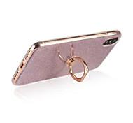 Недорогие -Кейс для Назначение Apple iPhone X iPhone 8 iPhone 8 Plus Кольца-держатели Задняя крышка Сияние и блеск Мягкий TPU для iPhone X iPhone 8