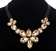 Women's Pendant Necklaces Multi-stone Geometric Rhinestone Silk Fashion Simple Style Jewelry For Daily Going out