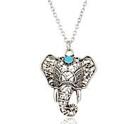 Жен. Ожерелья с подвесками Бирюза Слон Серебрянное покрытие Бирюза Животный дизайн Богемия Стиль Бижутерия Назначение Повседневные Для