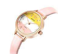 KEZZI Women's Fashion Watch Wrist watch Casual Watch Quartz PU Band Luxury Cool Casual Black White Green Pink