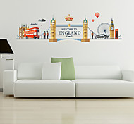 Недорогие -Известные картины Мода Архитектура Наклейки Простые наклейки Декоративные наклейки на стены, пластик Украшение дома Наклейка на стену