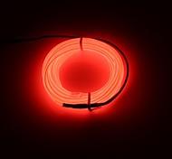 Недорогие -brelong 3m dc 12v el led неоновая холодная лента светлая круглая линия - батарейный отсек нет батареи