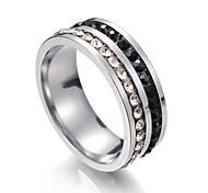 Недорогие -Муж. Жен. Классические кольца Цирконий 1 металлический Нержавеющая сталь Круглый Бижутерия Для вечеринок Бикини