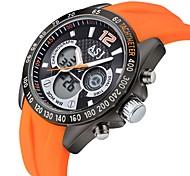 ASJ Men's Digital Watch Japanese Digital Water Resistant / Water Proof Rubber Band Black Blue Orange