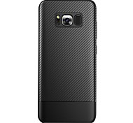 cheap -Case For Samsung Galaxy S8 Plus S8 Frosted Back Cover Lines / Waves Solid Color Soft TPU for S8 Plus S8