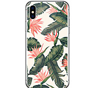 cheap -For iPhone X iPhone 8 Case Cover Ultra-thin Transparent Pattern Back Cover Case Flower Soft Rubber for Apple iPhone X iPhone 8 Plus
