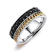 Недорогие -Муж. Классические кольца Смола корейский Мода Титан Сталь Геометрической формы Бижутерия Назначение Повседневные На выход