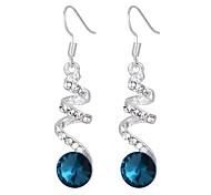 Women's Drop Earrings Rhinestone Fashion Elegant Crystal Alloy Jewelry For Daily Casual