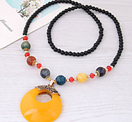 cheap -Women's Pendant Necklace  -  Fashion European Geometric Red Light Blue Dark Green Necklace For Daily
