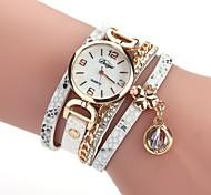 cheap -Women's Casual Watch Bracelet Watch Simulated Diamond Watch Chinese Quartz Imitation Diamond PU Band Vintage Casual Bohemian Black White