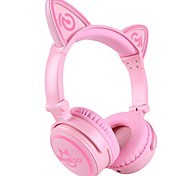 Unicat MH-6 Kids Headphones,Cat Ear Bluetooth V4.2 Headsets On-Ear Earphones wtih Mic,(Patented Exclusive Design) Foldable Gaming Headsets
